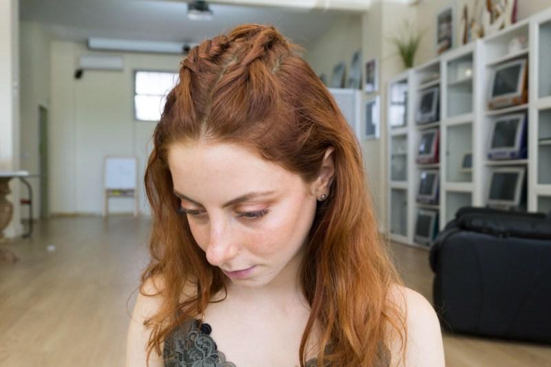 capelli color rame acconciati