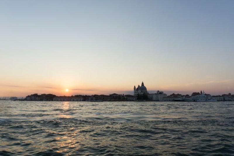 tramonto su piazza san marco venezia
