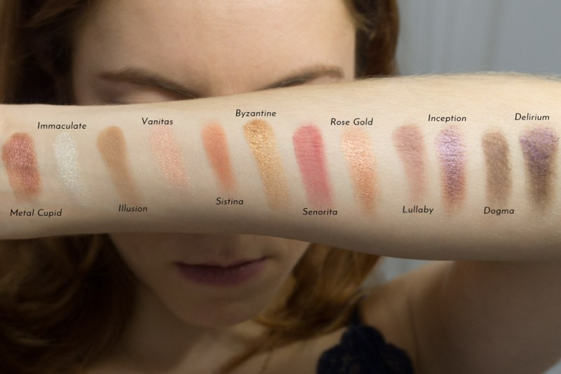 Nabla DREAMY Palette swatches