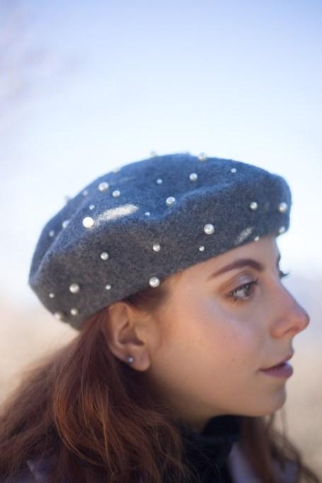 cappello con perle zara