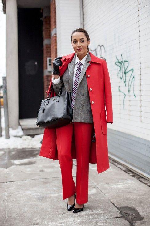 outfit completo rosso e principe di galles