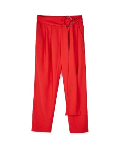 pantaloni rossi stradivarius
