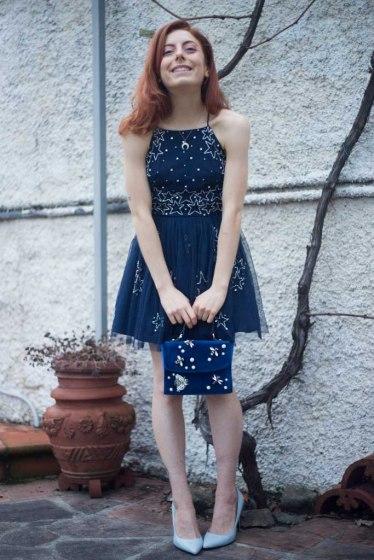 vestito in tulle con stelle