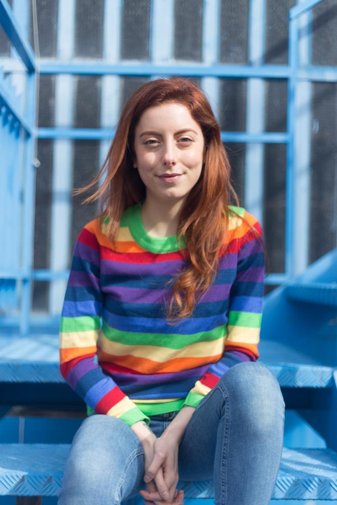 Maglione arcobaleno