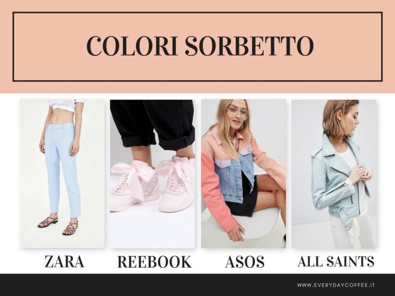 tendenze moda primavera estate 2018 colori sorbetto