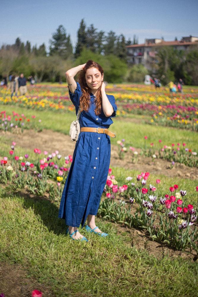 vestito blu jeans zara per ragazze basse