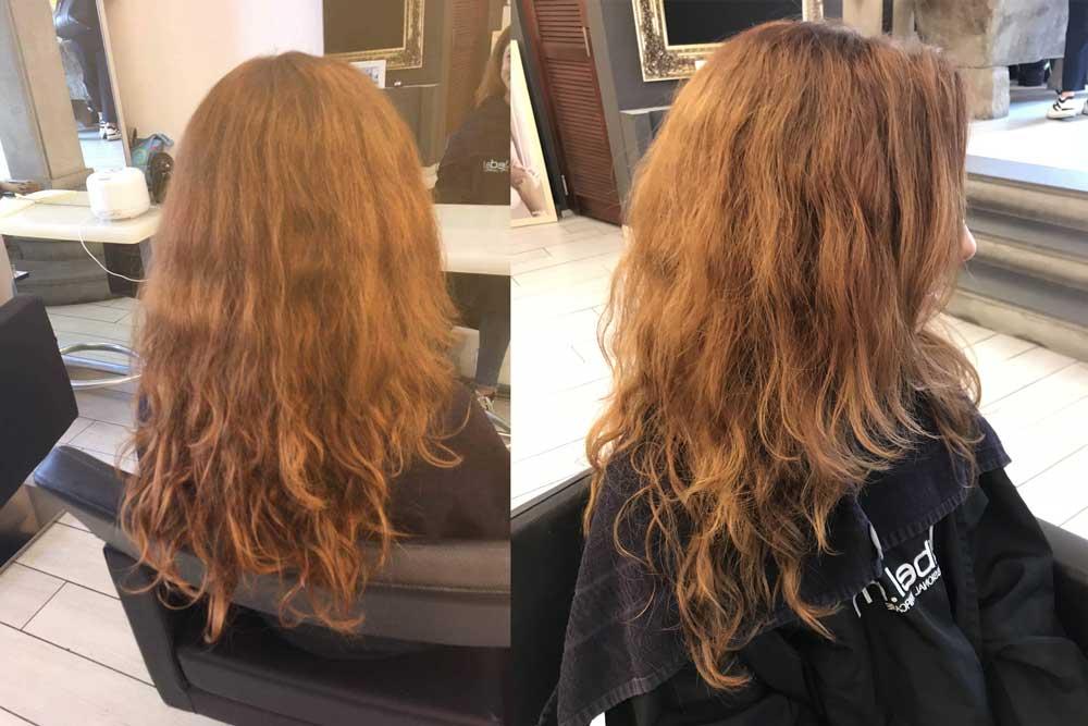 Sfumature capelli rossi prima