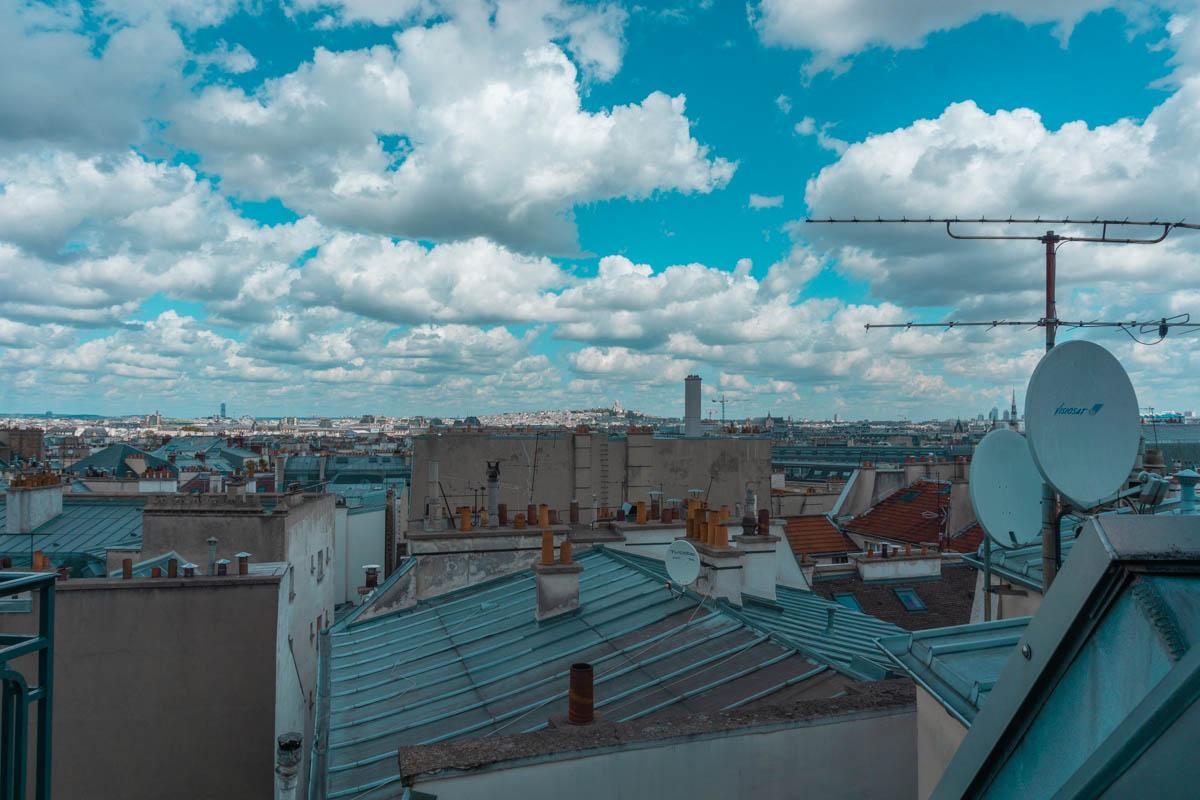 hotel le senat parigi vista sui tetti