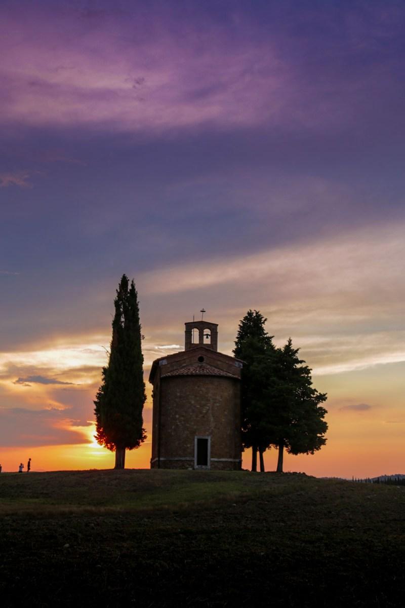cappella madonna vitaleta tramonto
