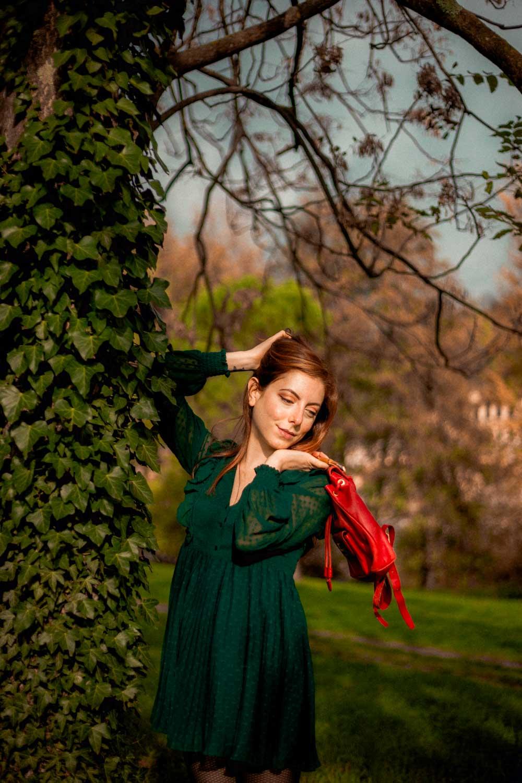 outfit mini tuta verde romantica