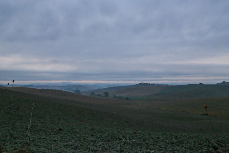 val d'orcia all'alba