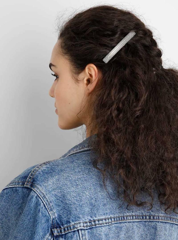 fermaglio per capelli in acetato glitter