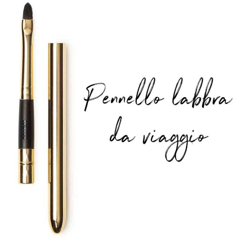 pennello make up labbra da viaggio