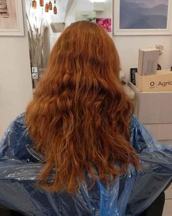 capelli rossi ramati dopo un mese e mezzo dalla colorazione