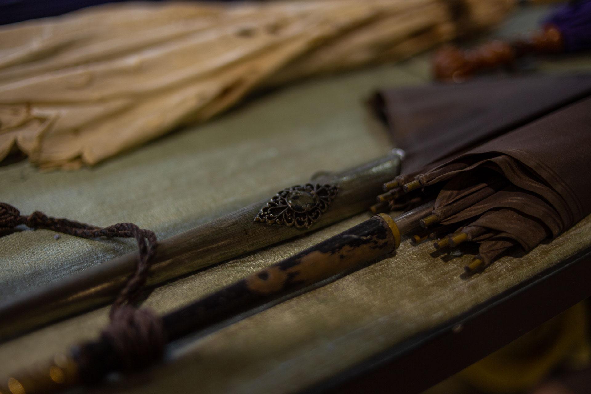 particolare di un ombrellino storico di Sartoria Monaco
