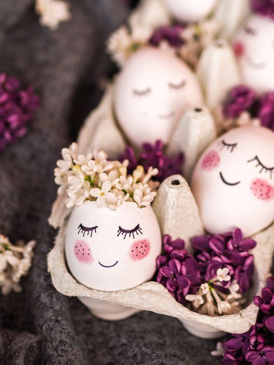 uova vere decorate per pasqua