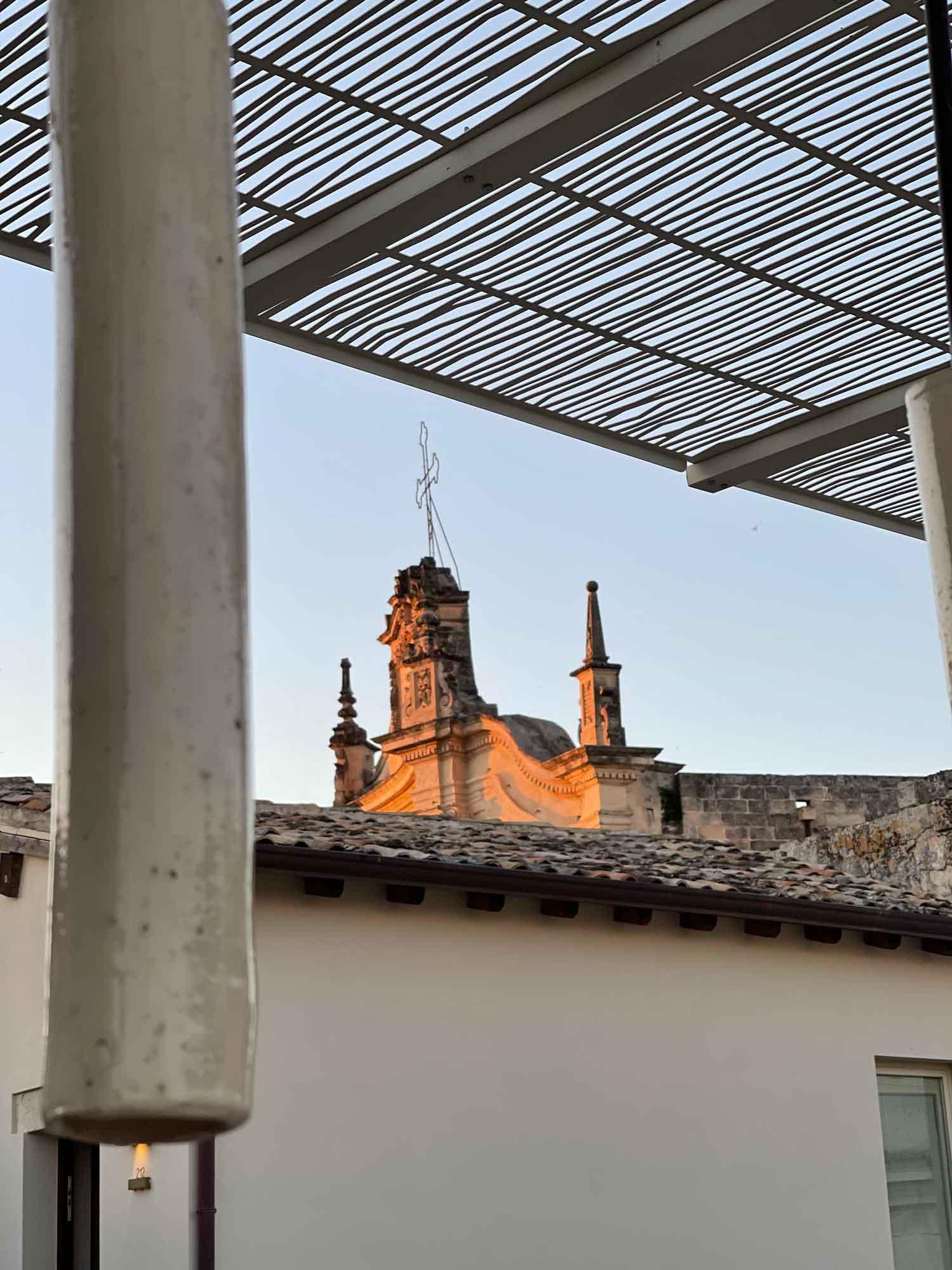 vista dalla terrazza su san matteo a Lecce
