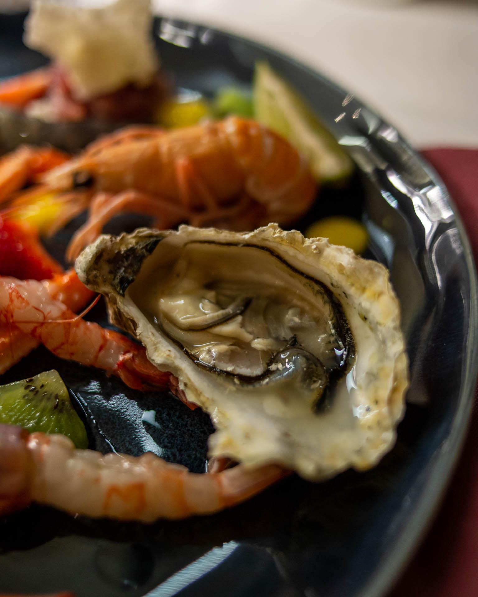 antipasto di crudo di mare di rosso veneziano miglior ristorante pesce pistoia