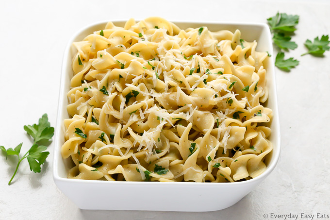 Buttered Noodles with Parmesan Recipe | EverydayEasyEats.com