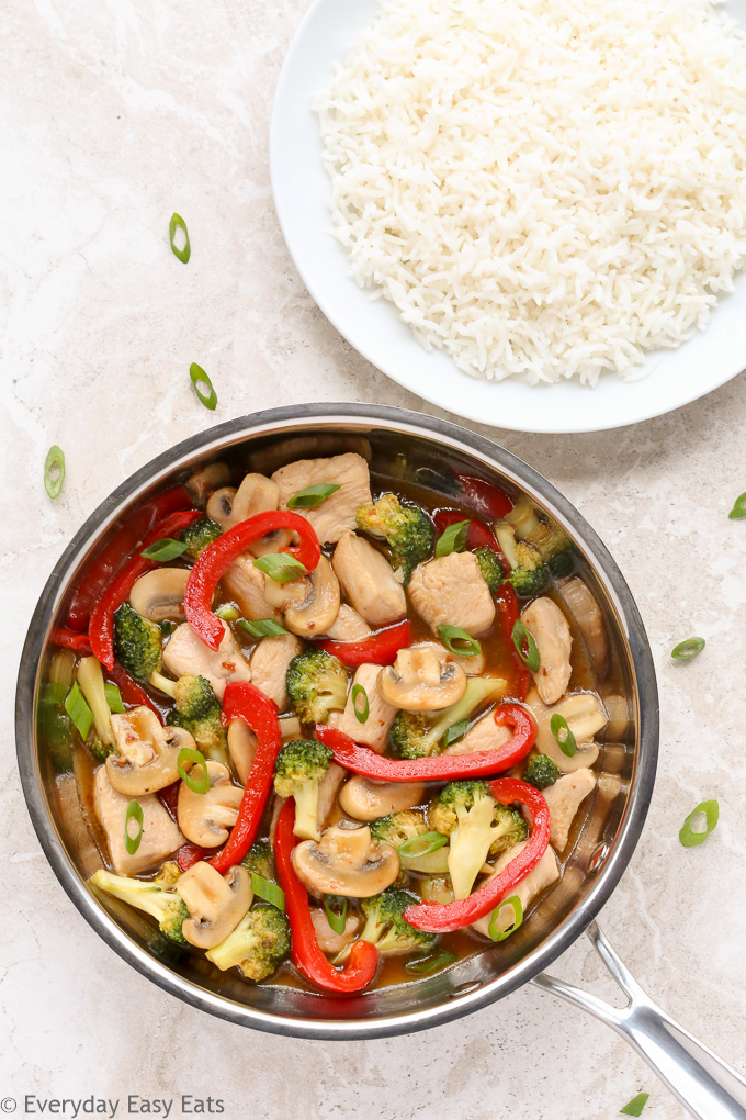 Healthy Chicken and Vegetable Stir-Fry | Recipe at EverydayEasyEats.com