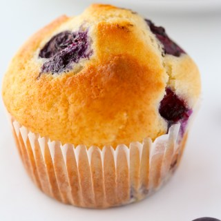 The ultimate go-to recipe for blueberry muffins. These fluffy baked treats are buttery, moist, and loaded with juicy blueberries.   EverydayEasyEats.com