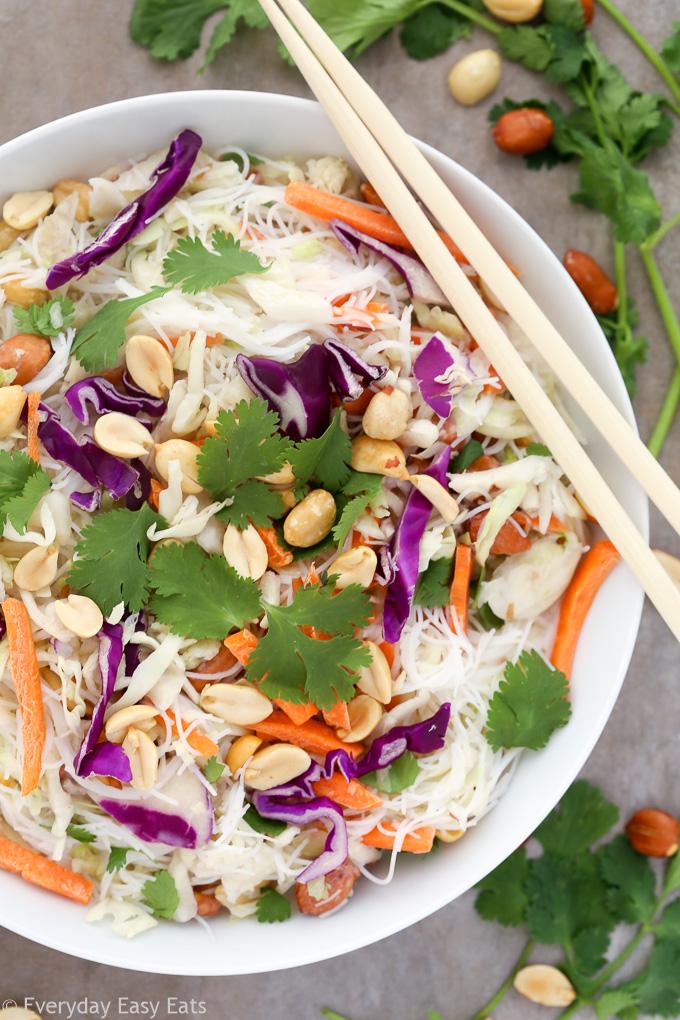 Thai Coconut Noodle Salad | Recipe at EverydayEasyEats.com