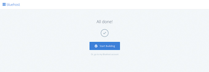 Start Building WordPress with Bluehost