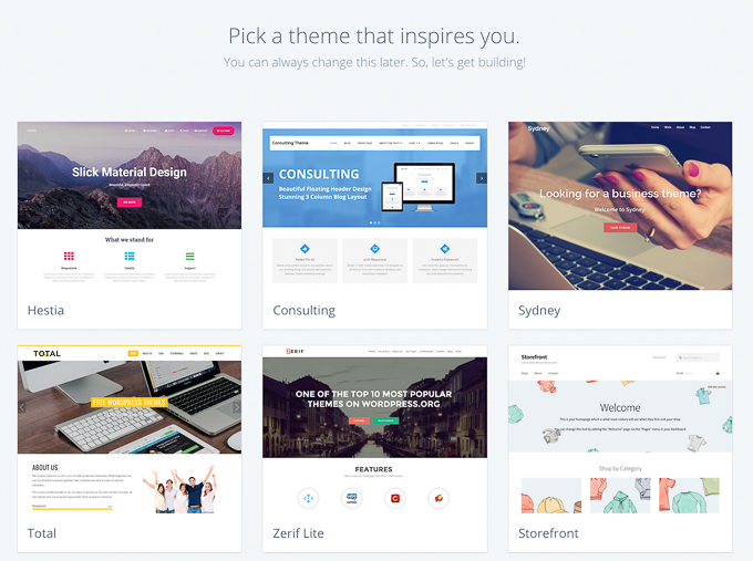Pick Free WordPress Theme on Bluehost