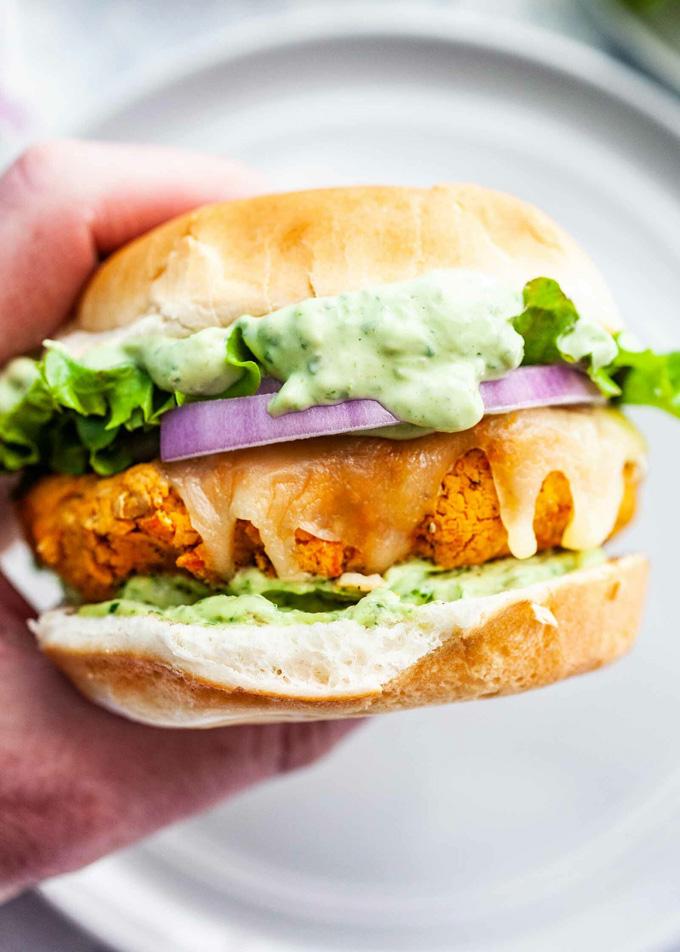 Healthy Grilling Recipes: Green Goddess Veggie Burgers
