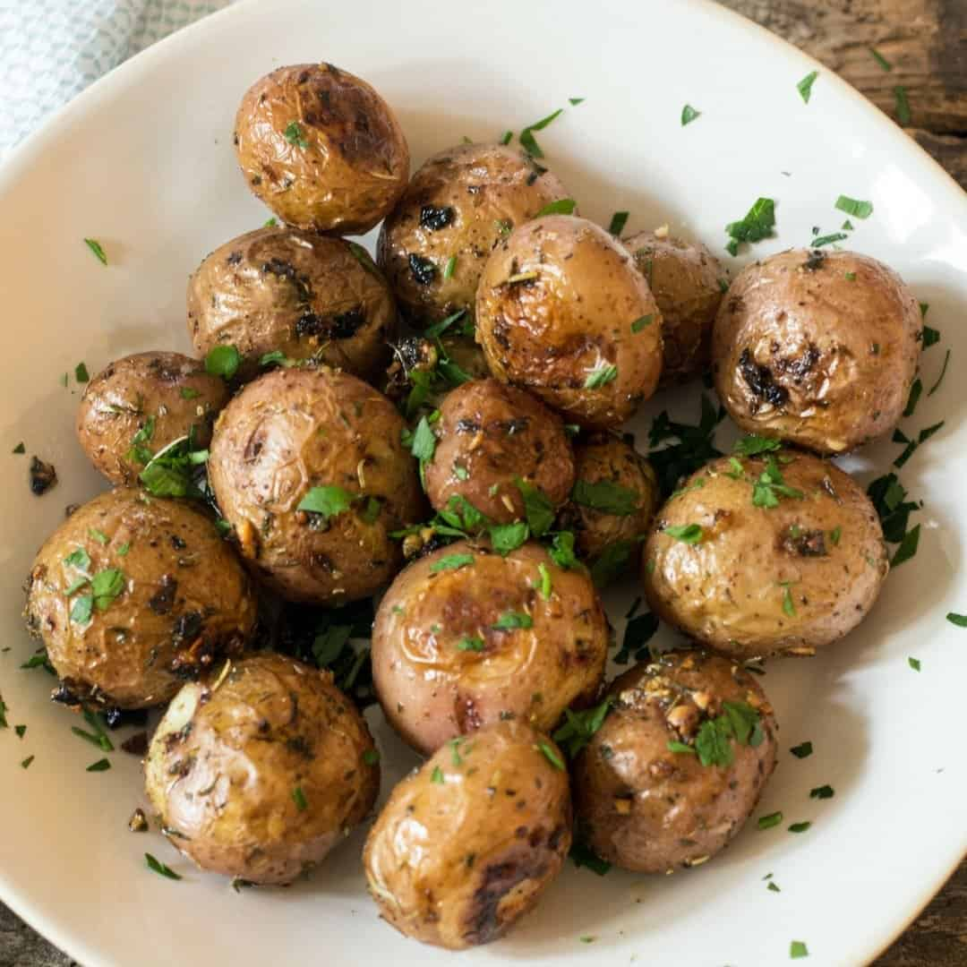 Garlic Herb Roasted Red Potatoes