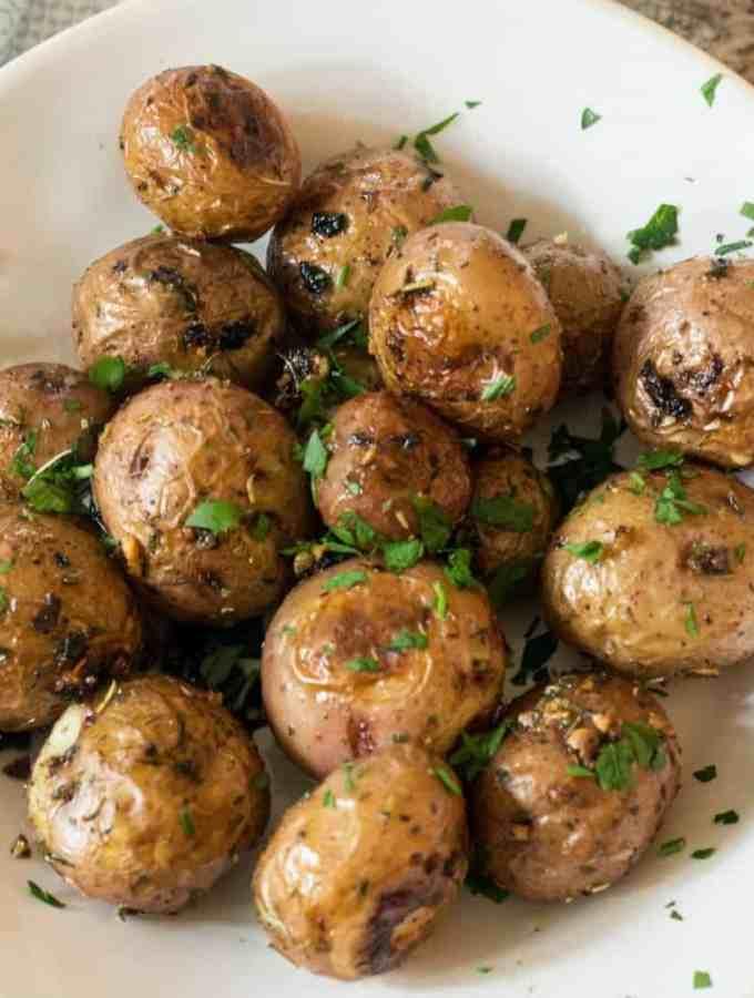 Garlic Herb Roasted Red Potatoes