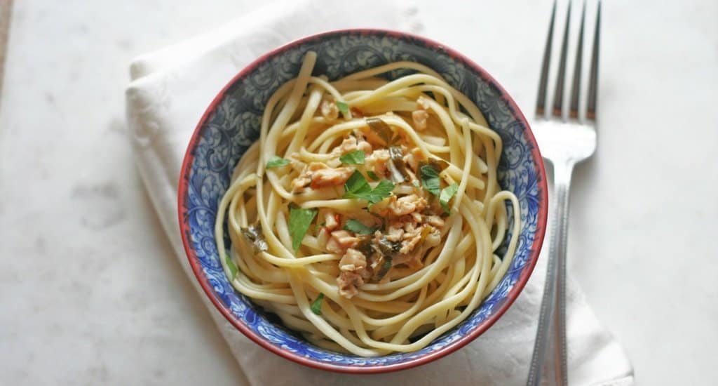 lighter linguine with clam sauce