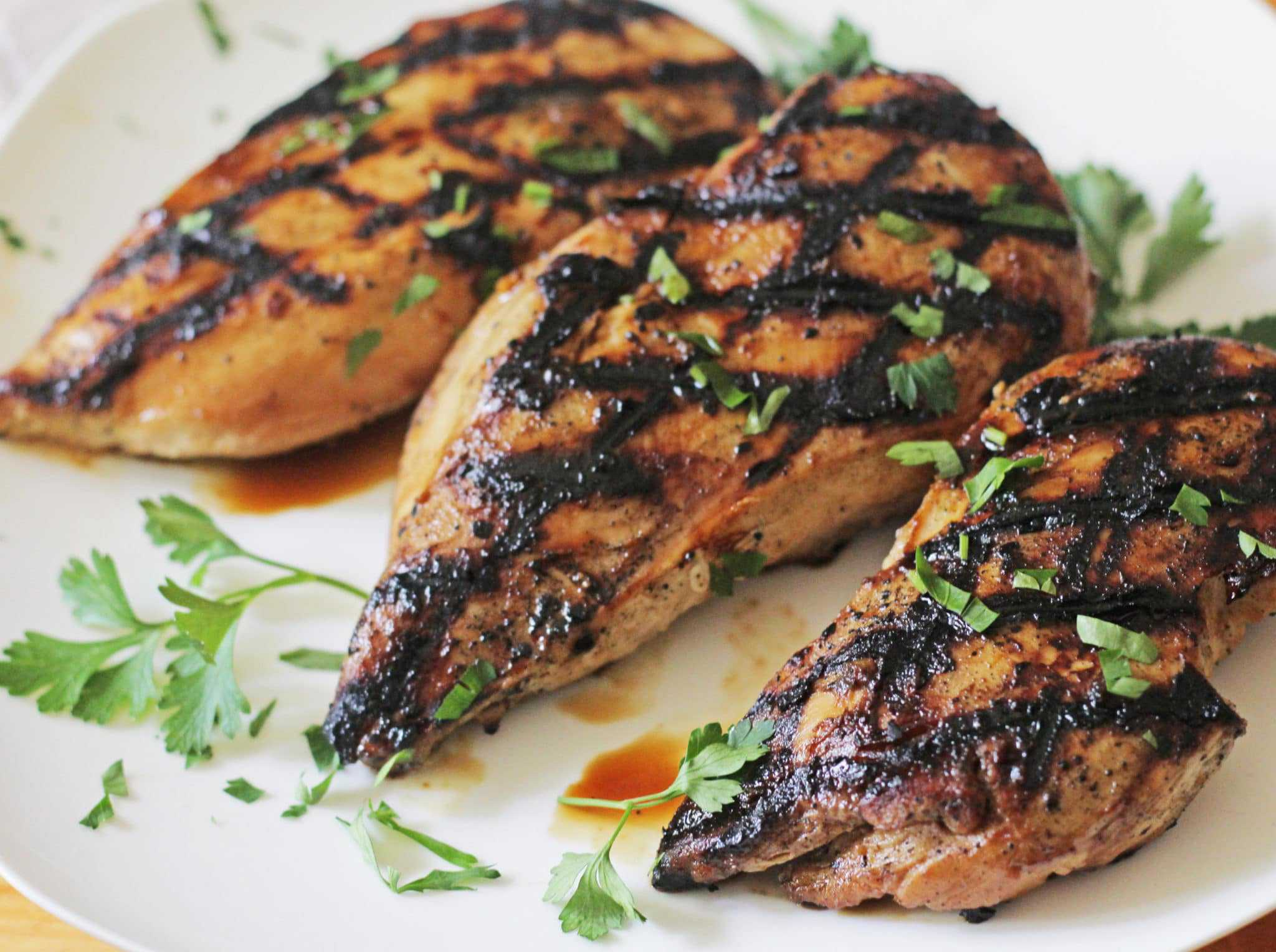 Weight Watchers Cesar Salad with Poblano Dressing · apricot glazed grilled  chicken