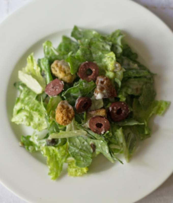 Weight Watchers Caesar Salad with Poblano Dressing