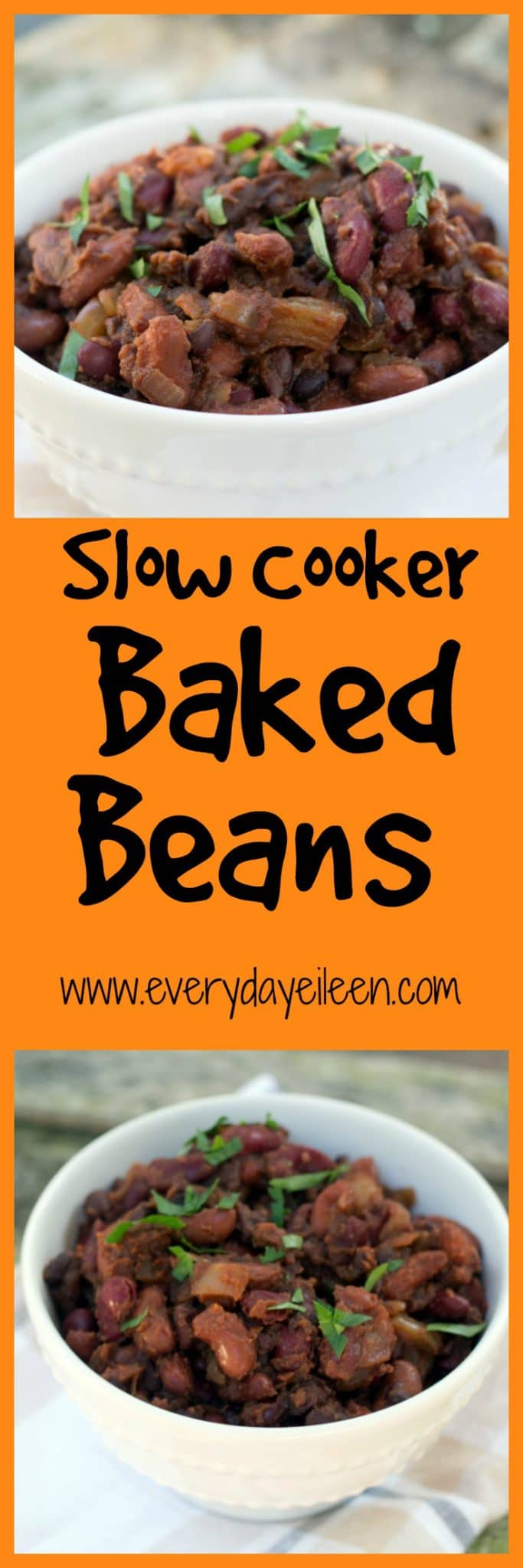 Slow Cooker Baked Beans - Everyday Eileen
