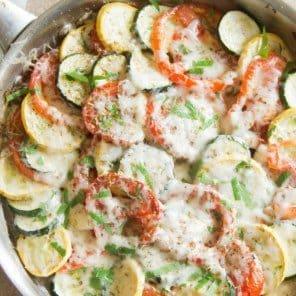 Zucchini Tomato Eggplant Bake plus Video