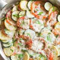 Zucchini Tomato Eggplant Bake plus Video