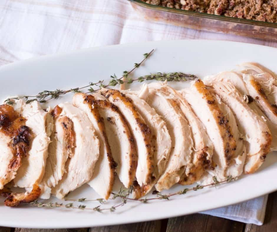 Roasted Bourbon Maple Turkey Breast