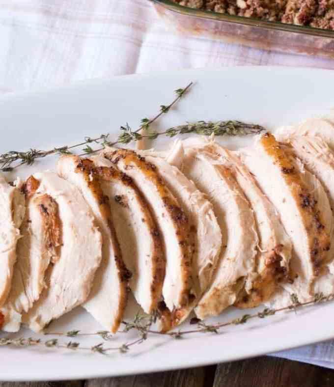 Roasted Turkey Breast with Bourbon Maple Glaze