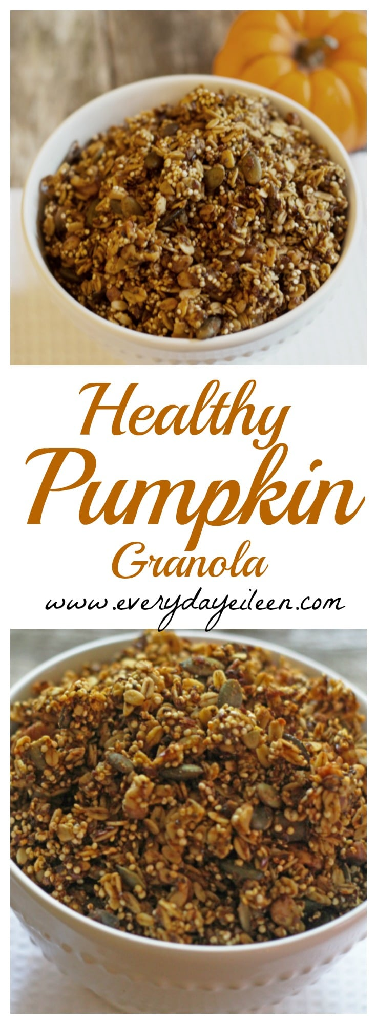 Healthy Pumpkin Granola - Everyday Eileen