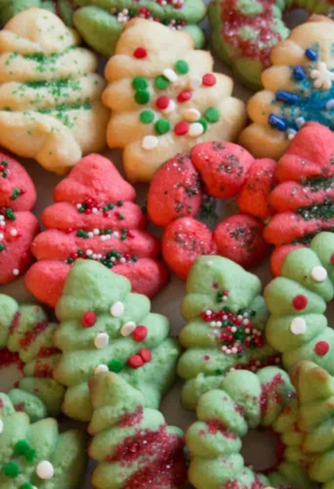 Classic Holiday Spritz Cookies - Everyday Eileen