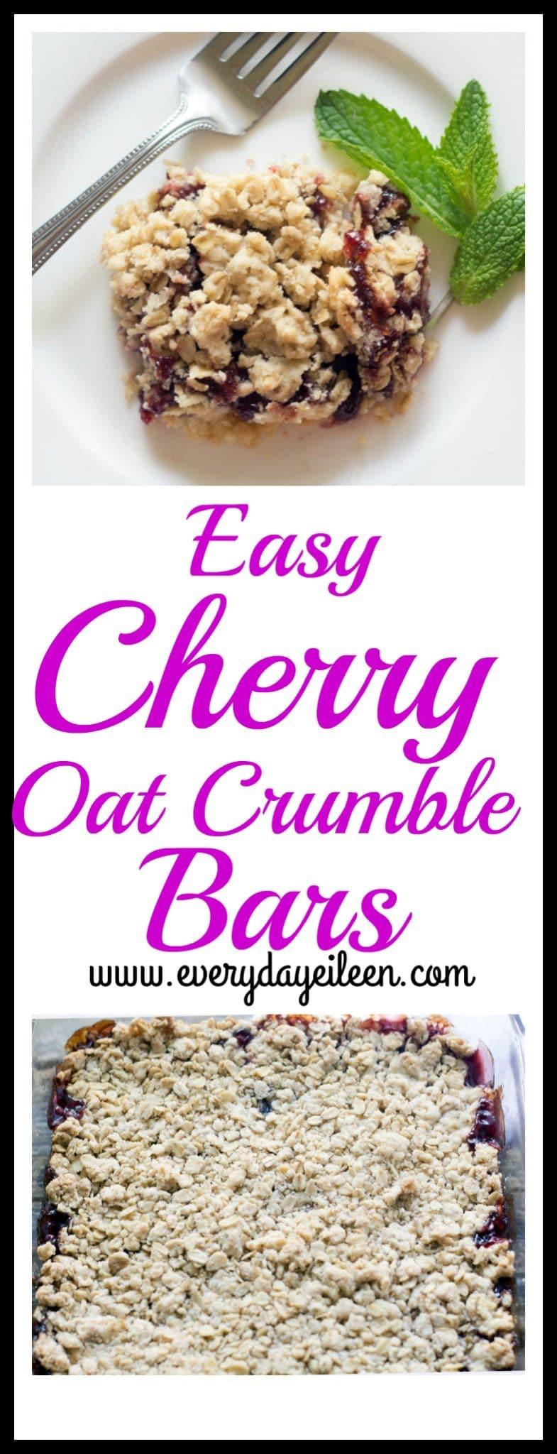 easy cherry oat crumble bars