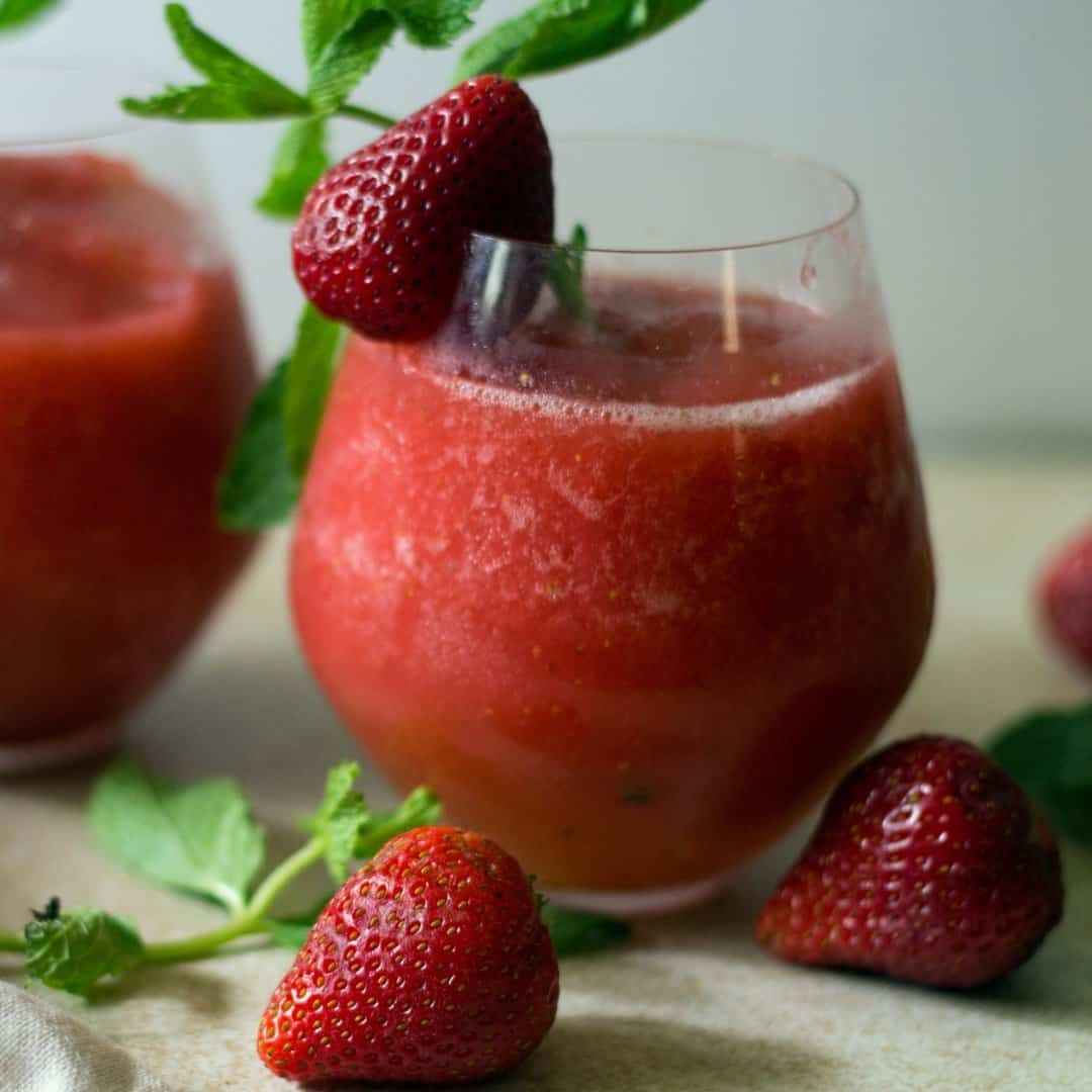 Strawberry Vodka Slush Cocktail