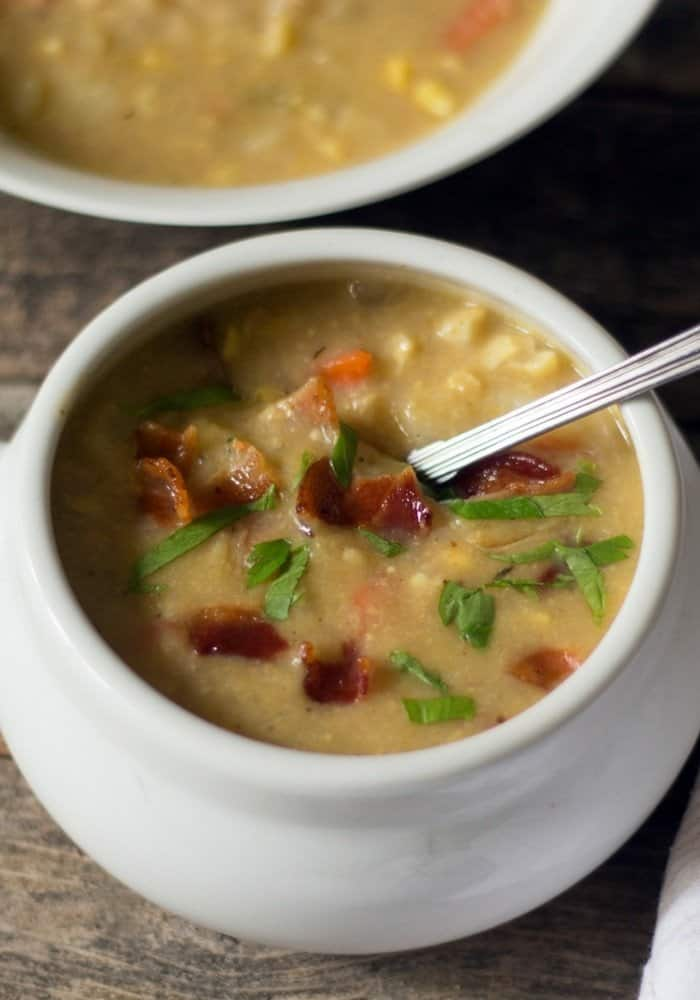 dairy free corn potato chowder