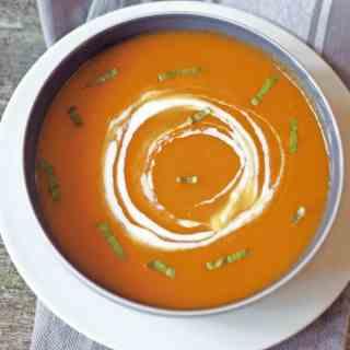 healthy creamless butternut squash sou