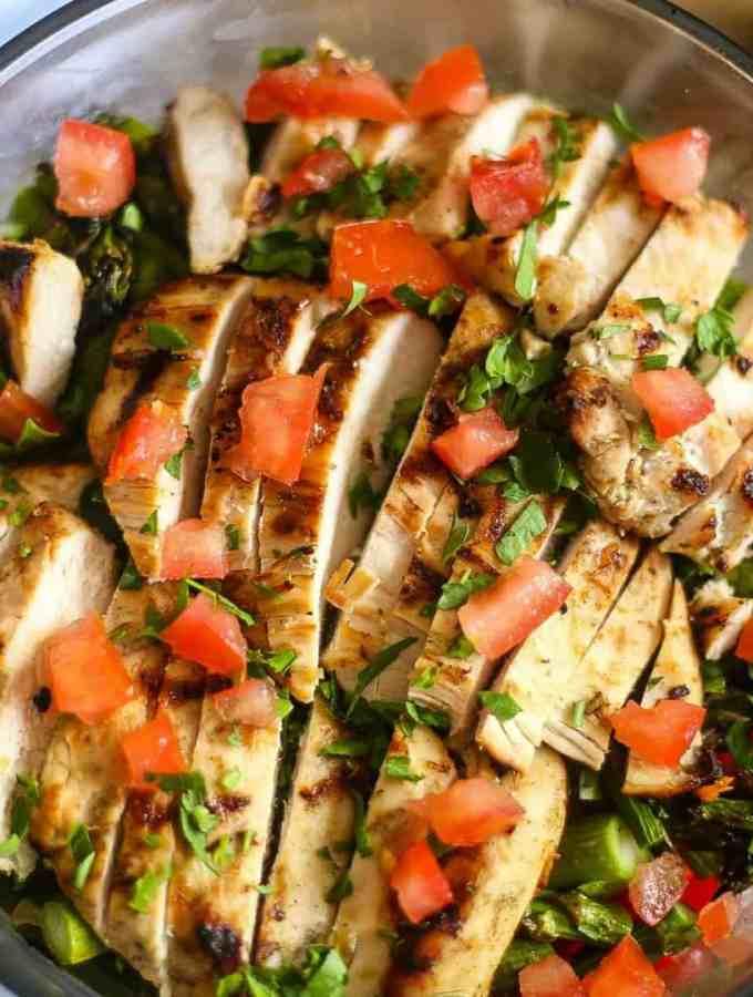 Grilled Chicken Asparagus Salad