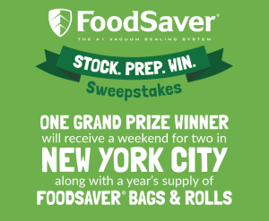 FoodSaver® sweepstakes to win a trip toNYC the food saver freezes Instant Pot Swedish Meatballs