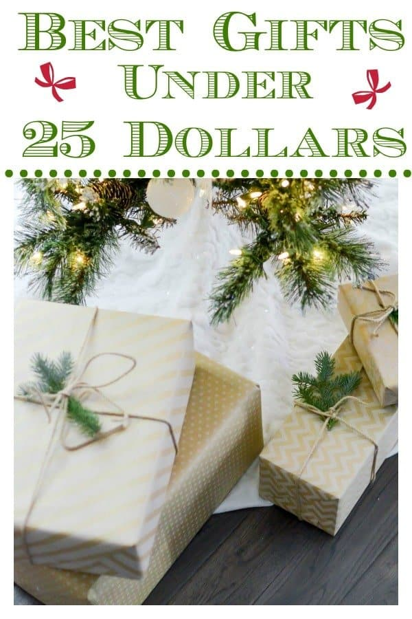 pretty gift boxes wrapped for the holidays to show gifts under 25 dollars
