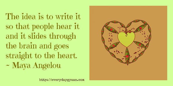 More Writing From The Heart