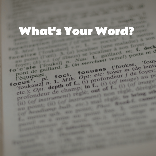 What Is Your Word  #MondayMusings